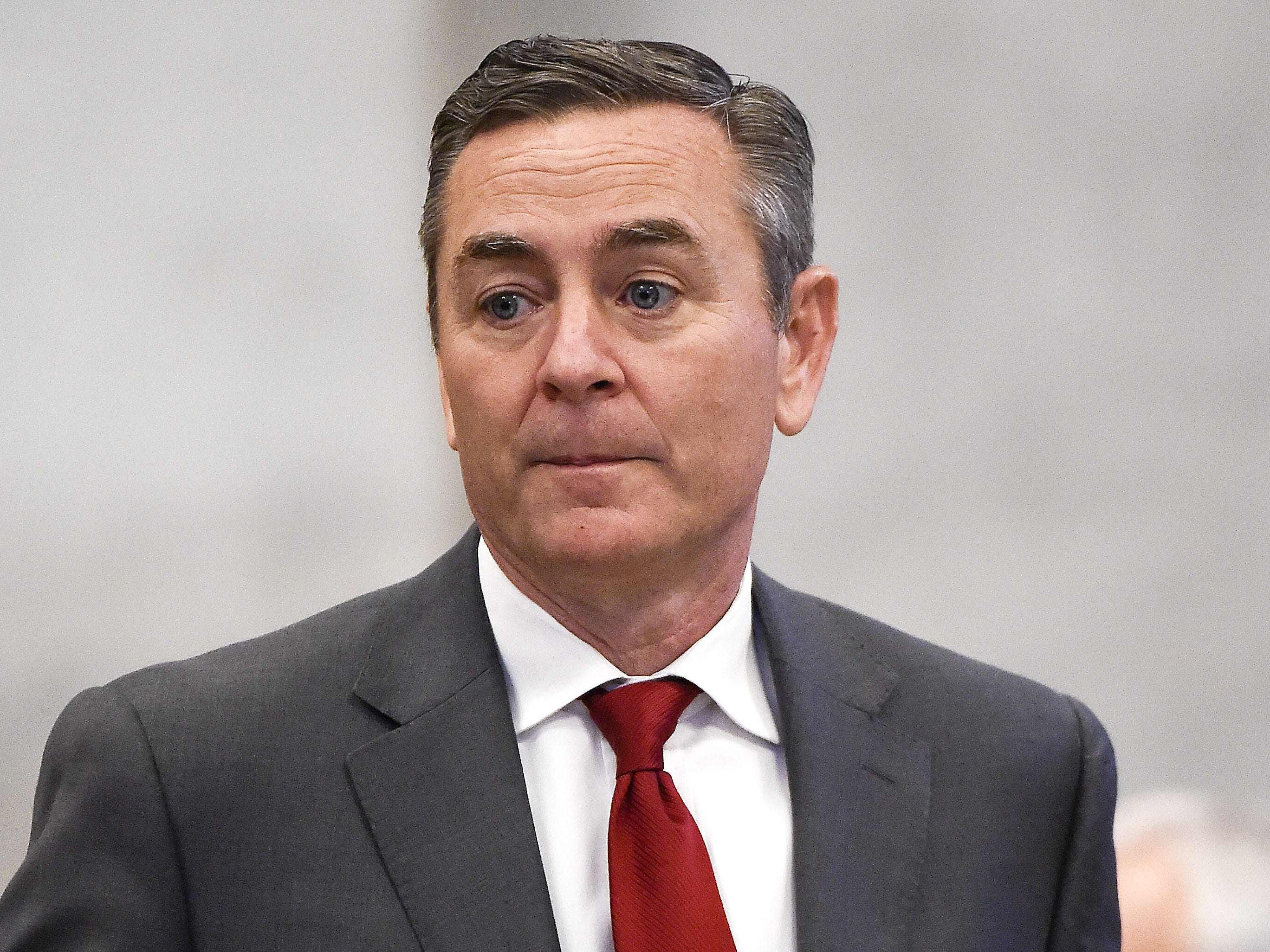 State Rep. Glen Casada conducts business in the final days of the 2016 legislative session April 19, 2016.