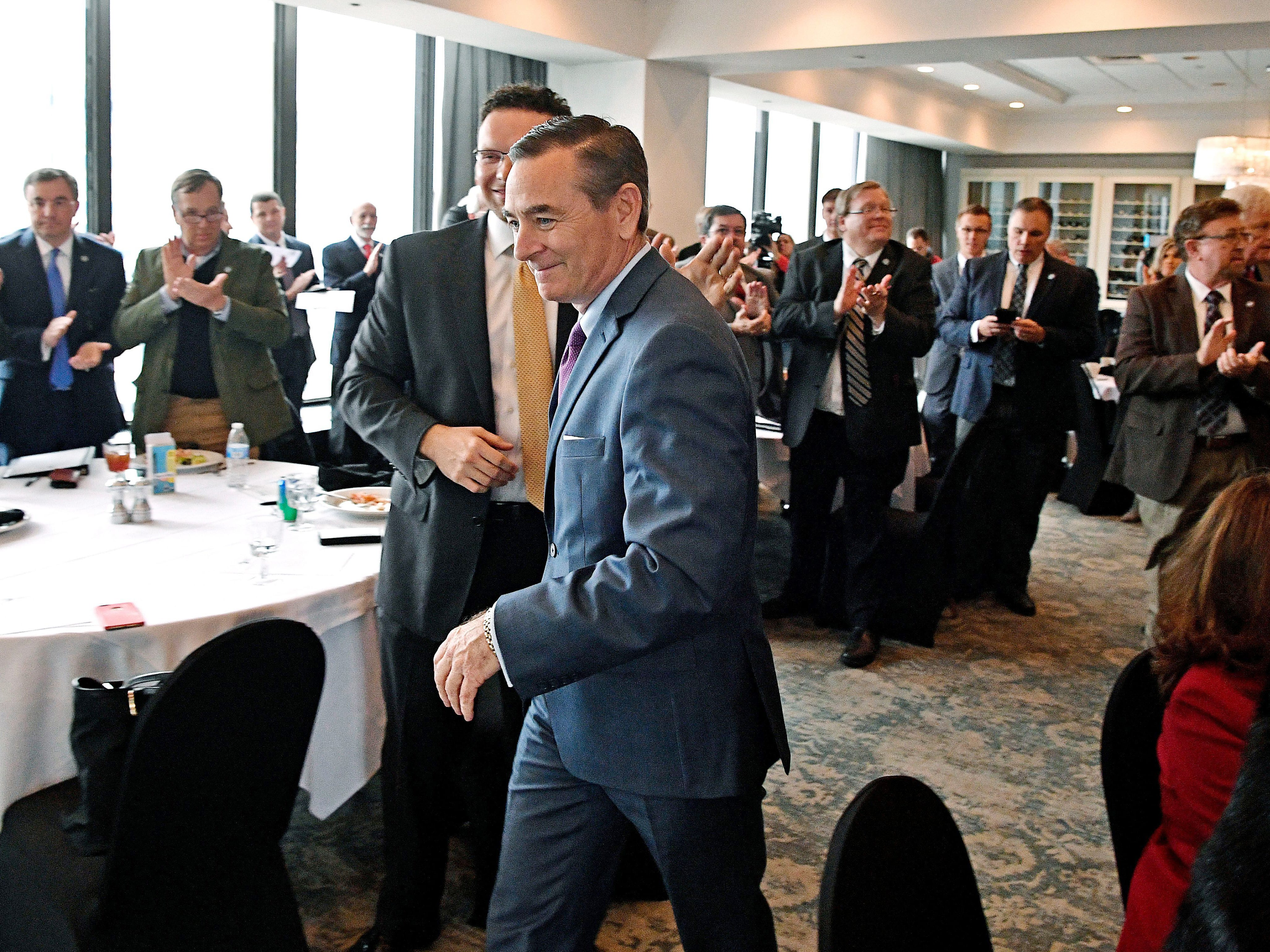 While gathering for the first time since the Nov. 6 midterm election, the House's 73 Republicans choose Franklin lawmaker Glen Casada to be their nominee for speaker Nov. 22, 2018, in Nashville.
