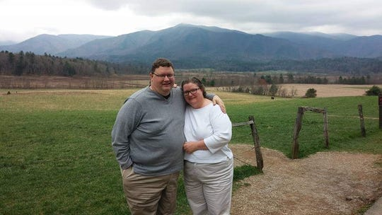 Julie Nidiffer and her husband, Jerry, during a 2016 trip to Gatlinburg, Tenn.