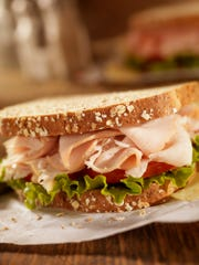 A smoked turkey sandwich is a great lunch for kids.