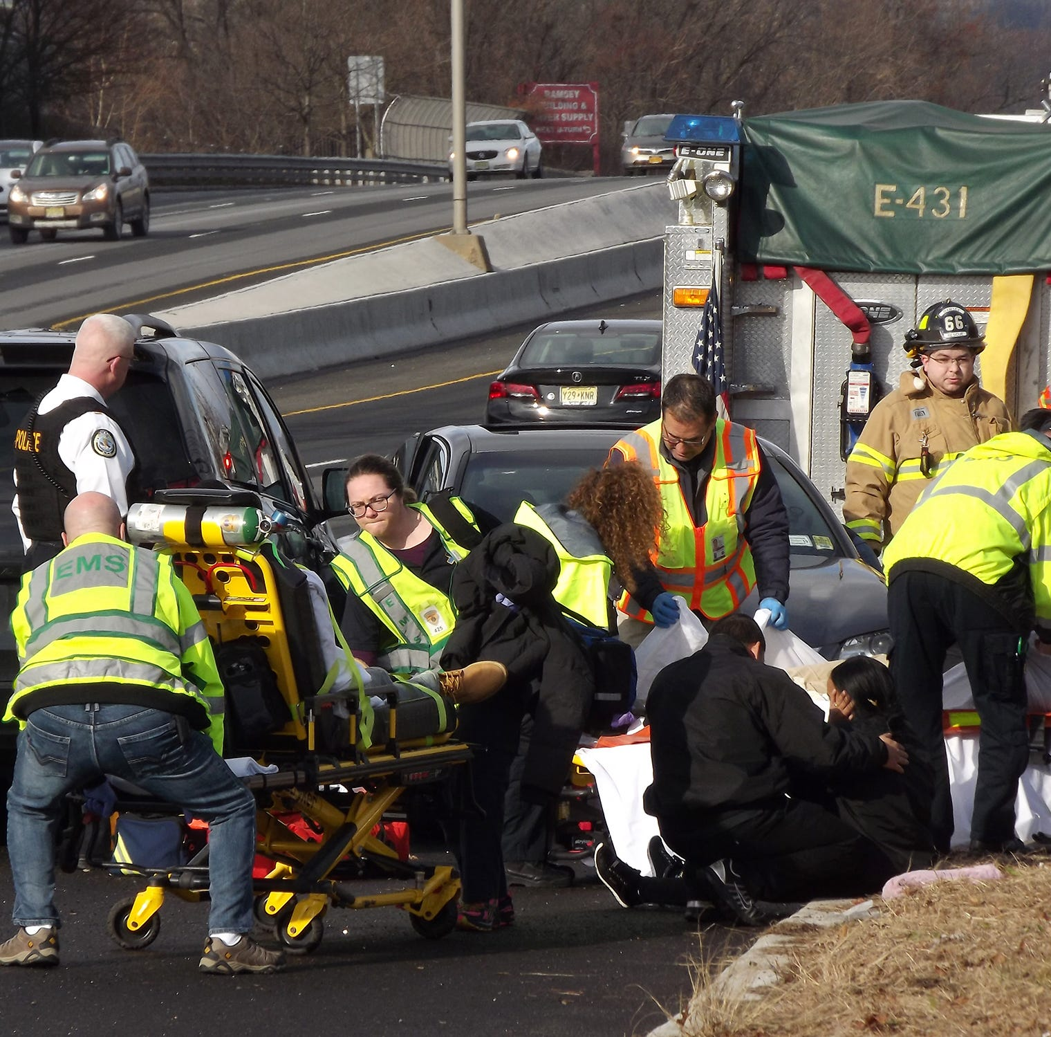 Six sent to hospital in Route 17 collision in Ramsey