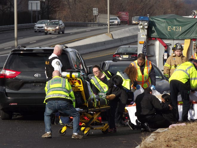 Six people were taken to local hospitals after a collision on Route 17 in Ramsey Monday, Dec. 17.