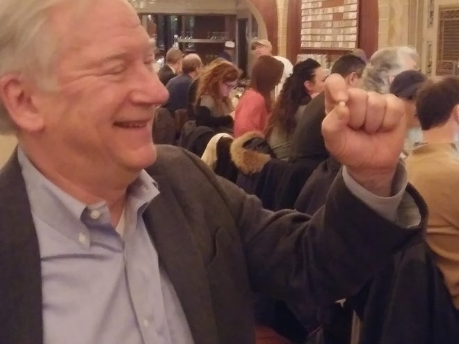 Rick Antosh of Edgewater found a pearl in his oyster at Grand Central Oyster Bar.