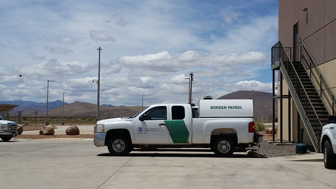 A Border Patrol truck sits parked in May 2017 outside the agency's Bounds Forward Operating Base in the southern New Mexico.