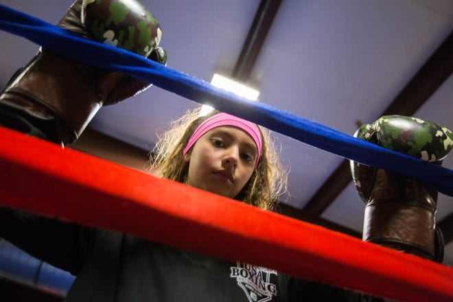 Joscelyn Olayo-Muñoz,11, also known as Jos the Boss, trains at the Doña Ana Boxing Club in Doña Ana on Monday Dec. 10, 2018.