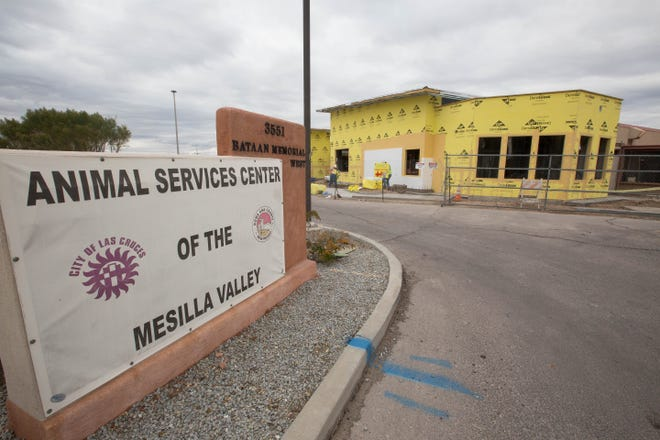 Animal Services Center of the Mesilla Valley, under construction after receiving go bond funding for the renovation of the facility off of I70 Monday December 17, 2018.