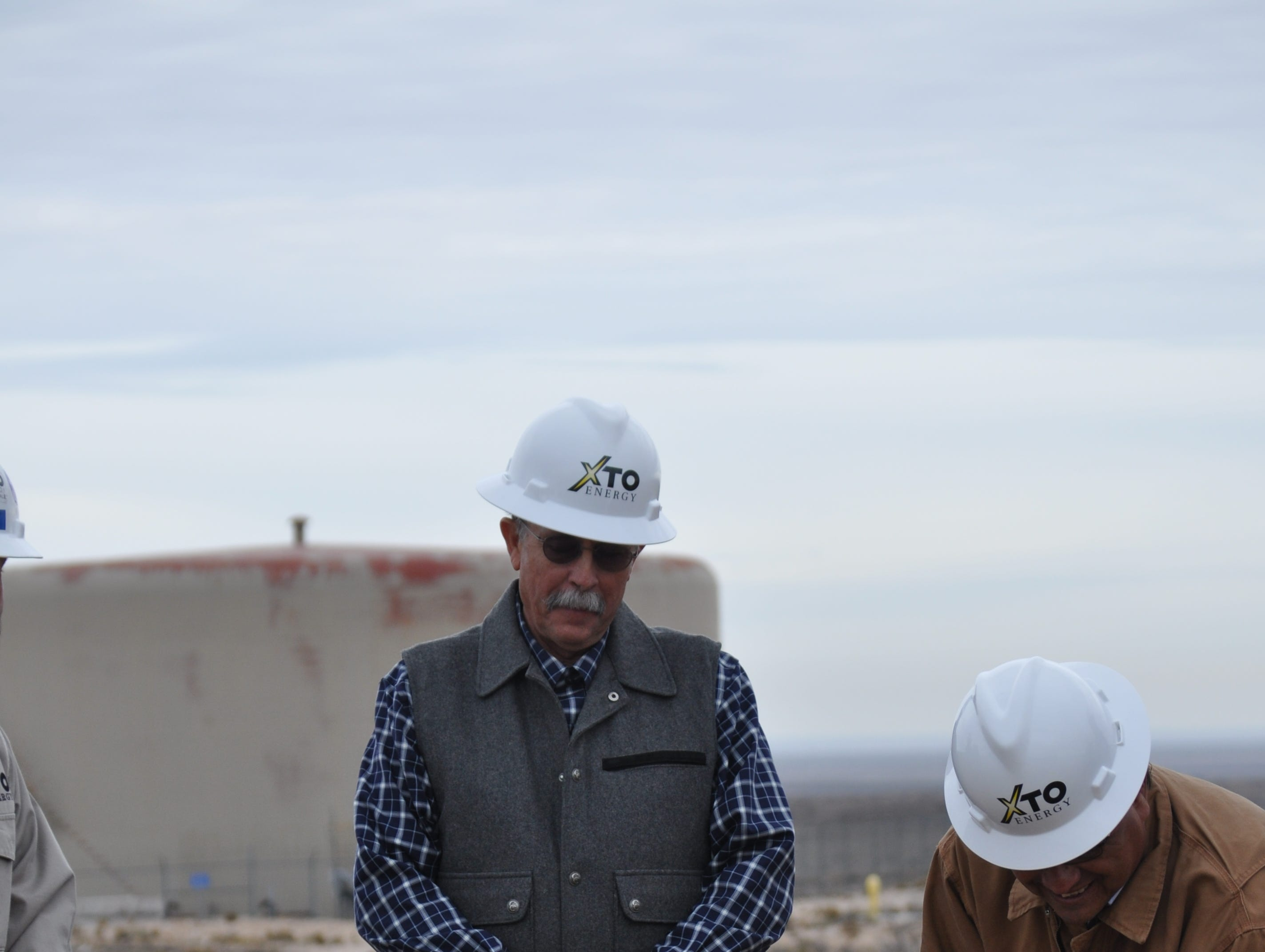 Carlsbad Water Board Commissioner Frank Beard Dec. 17 at the Double Eagle water project site.