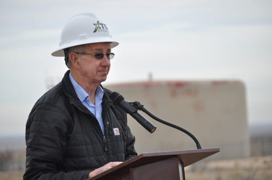 Carlsbad City Mayor Dale Janway Dec. 17 ahead of the ground breaking on a $12 million investment by the city and XTO Energy to build at 5 million gallon water tank and disinfection facility near Carlsbad, New Mexico. Janway said the project was a step forward in preparing for the city's growth.