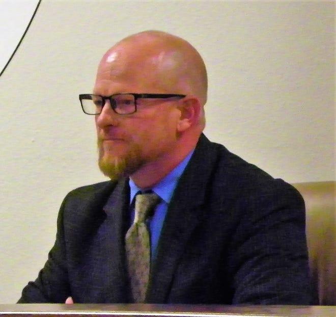 APS Interim Superintendent Jerrett Perry at the Dec. 12 regular APS School Board meeting.