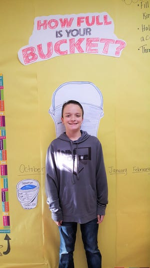 Caden Griffin from White Mountain Elementary has been chosen as Student of the Month. He is respectful of his peers and is responsible.