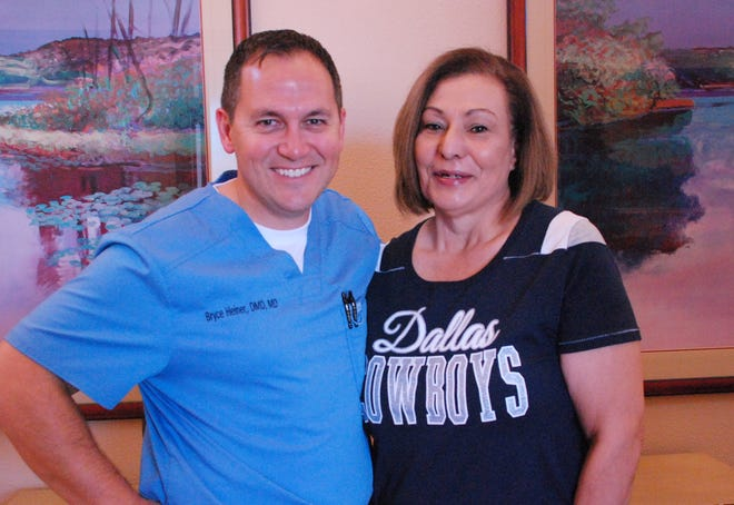 Dr. Bruce Heiner with his patient Cande Laney before the procedure in Las Cruces.