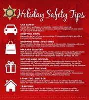 The Riverside County Sheriff's Department shared a list of holiday safety tips.