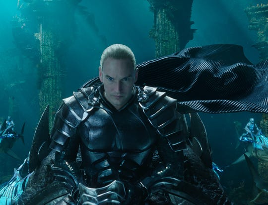 "King Orm (Patrick Wilson) is the brother to the title character of ""Aquaman."""