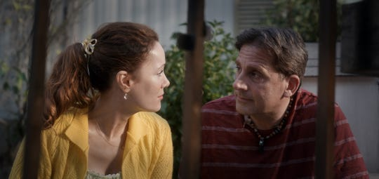 "In ""Welcome to Marwen"" Nicol (Leslie Mann) is the new neighbor of artist Mark Hogancamp (Steve Carell)."