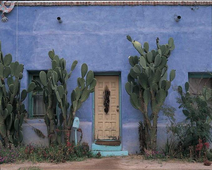 Barrio Historico, south of the convention center in downtown Tucson, features classic adobes, many painted in bright hues. This is a favorite stop for photographers.