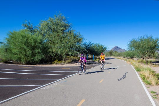 The Loop in Tucson is closed to motorized vehicles so it's a popular in-town escape for road bikers, walkers and joggers.
