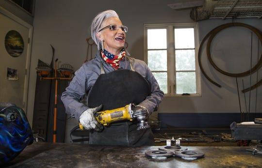 Brenda Warner makes metal art that helps benefit Treasure House