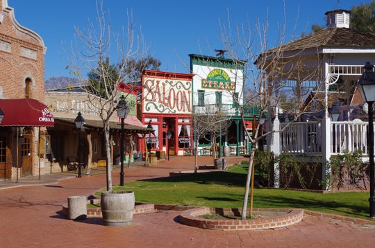 Trail Dust Town on Tucson's east side includes shops, amusement rides, stunt shows, and the Museum of the Horse Soldier.