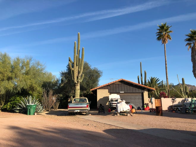 """The east Mesa home of 50-year-old Edward Rudhman, who the Maricopa County Sheriff's Office said """"confronted"""" deputies before they shot and killed him on Dec. 16, 2018."""