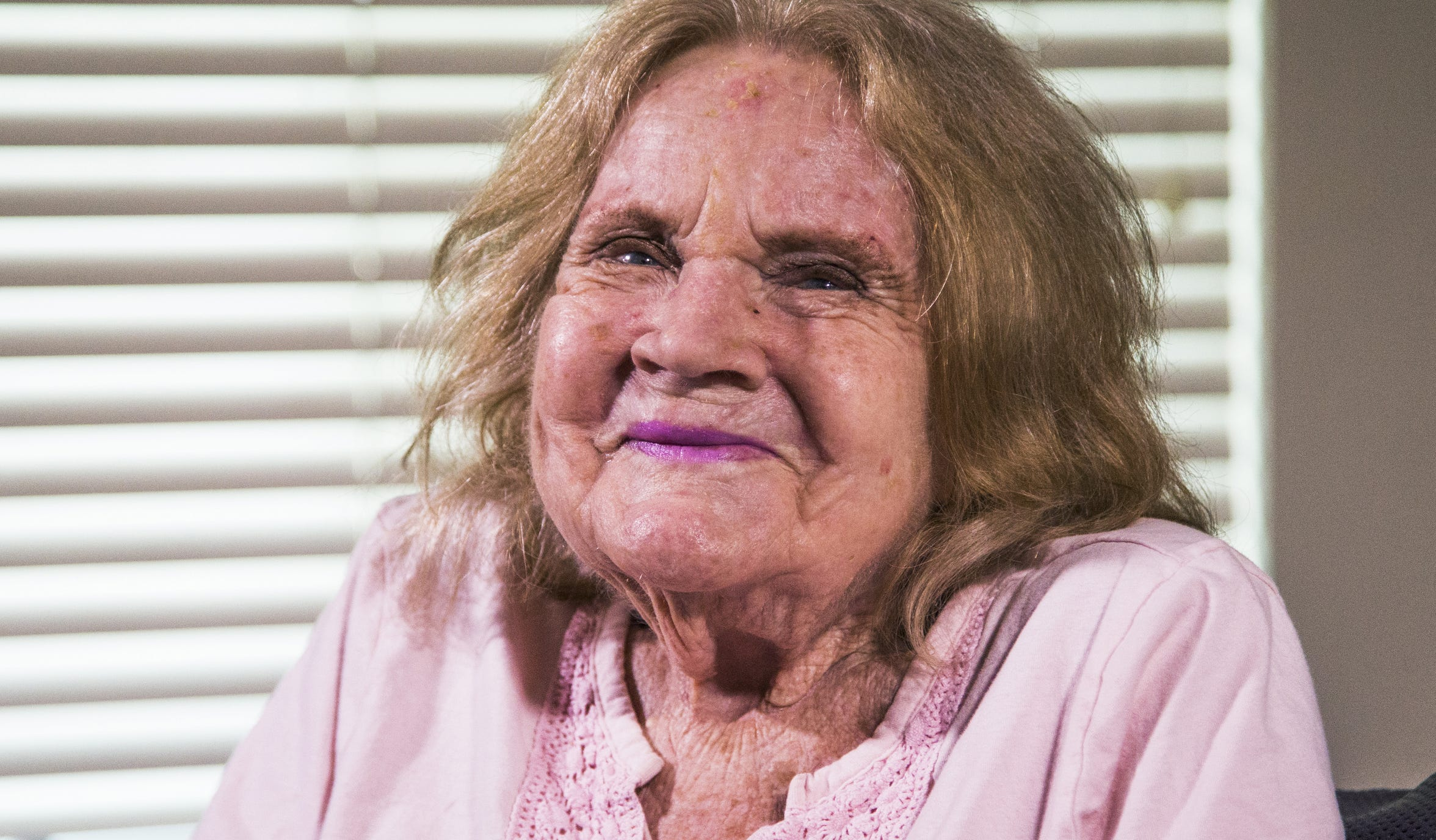Sharon Elliott, who was found in a hatbox on the side of the road as an infant. Elliott lived at a living facility in Mesa and has died at 86. Photo taken Dec. 5, 2018.