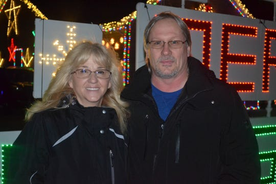 Chris and Sherry Lewandowski have been expanding their holiday display since moving to Genoa six years.