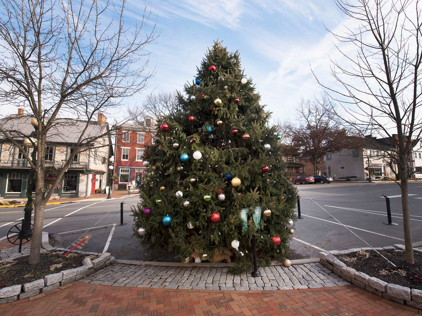 Downtown Mercersburg is decorated for the Christmas season, as seen Monday, December 17, 2018.