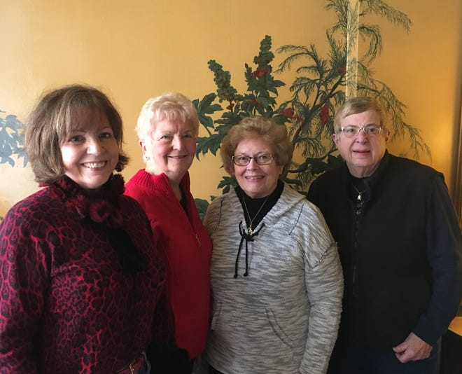 Woman's Club of York members (from left):  Bernadette Free and Jacqui Sutton, both former presidents, and Jackie Harrington and Betsy Knaub, current co-presidents.