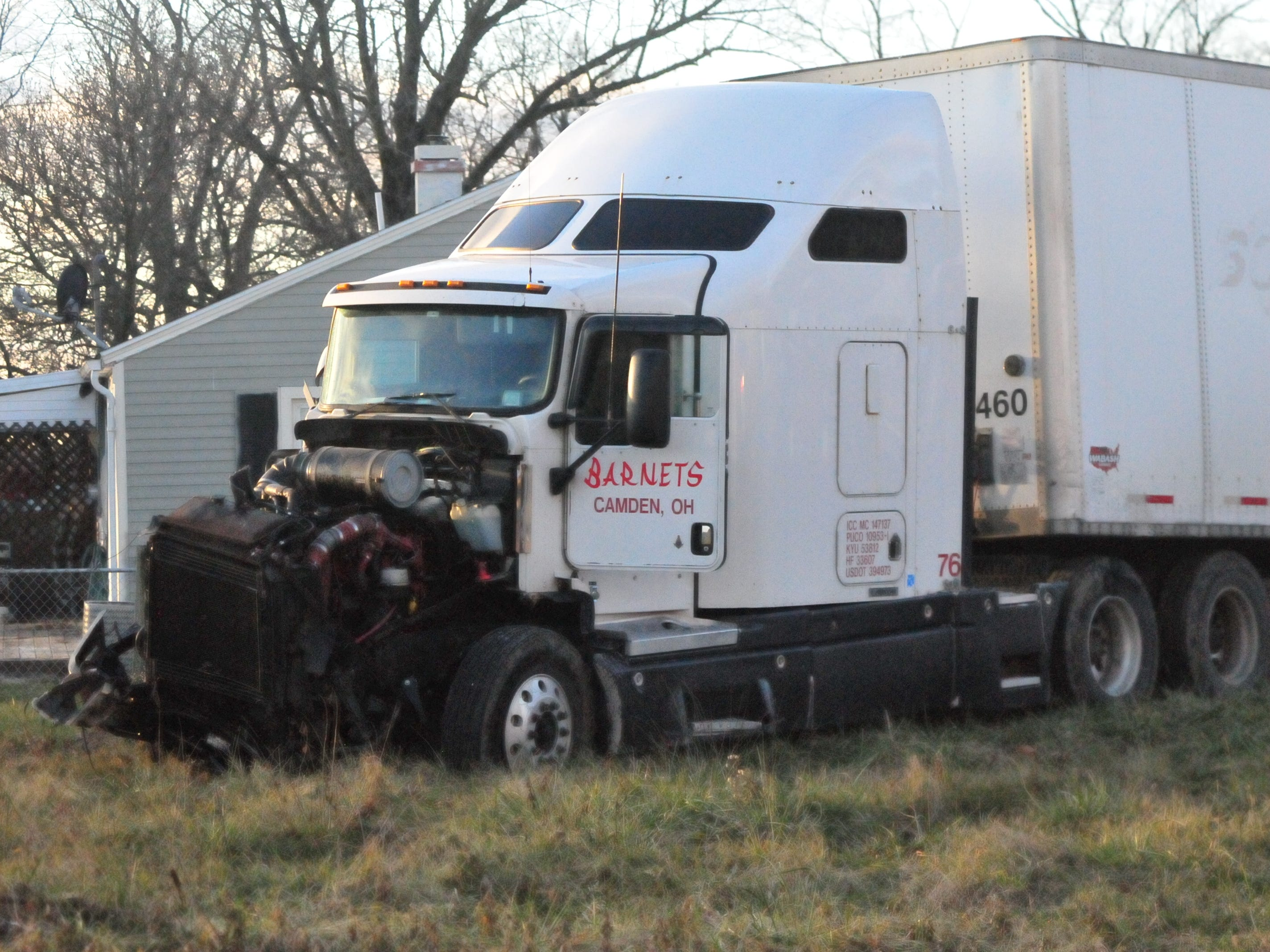 A semi tractor-trailer was involved in a Monday afternoon accident on U.S. 35 north of Salisbury Road.