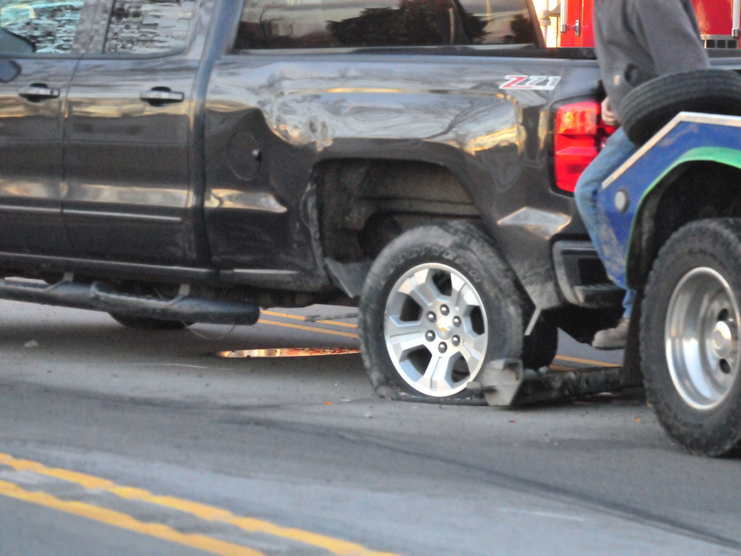 A Chevrolet Silverado was involved in a three-vehicle accident Monday afternoon on U.S. 35.