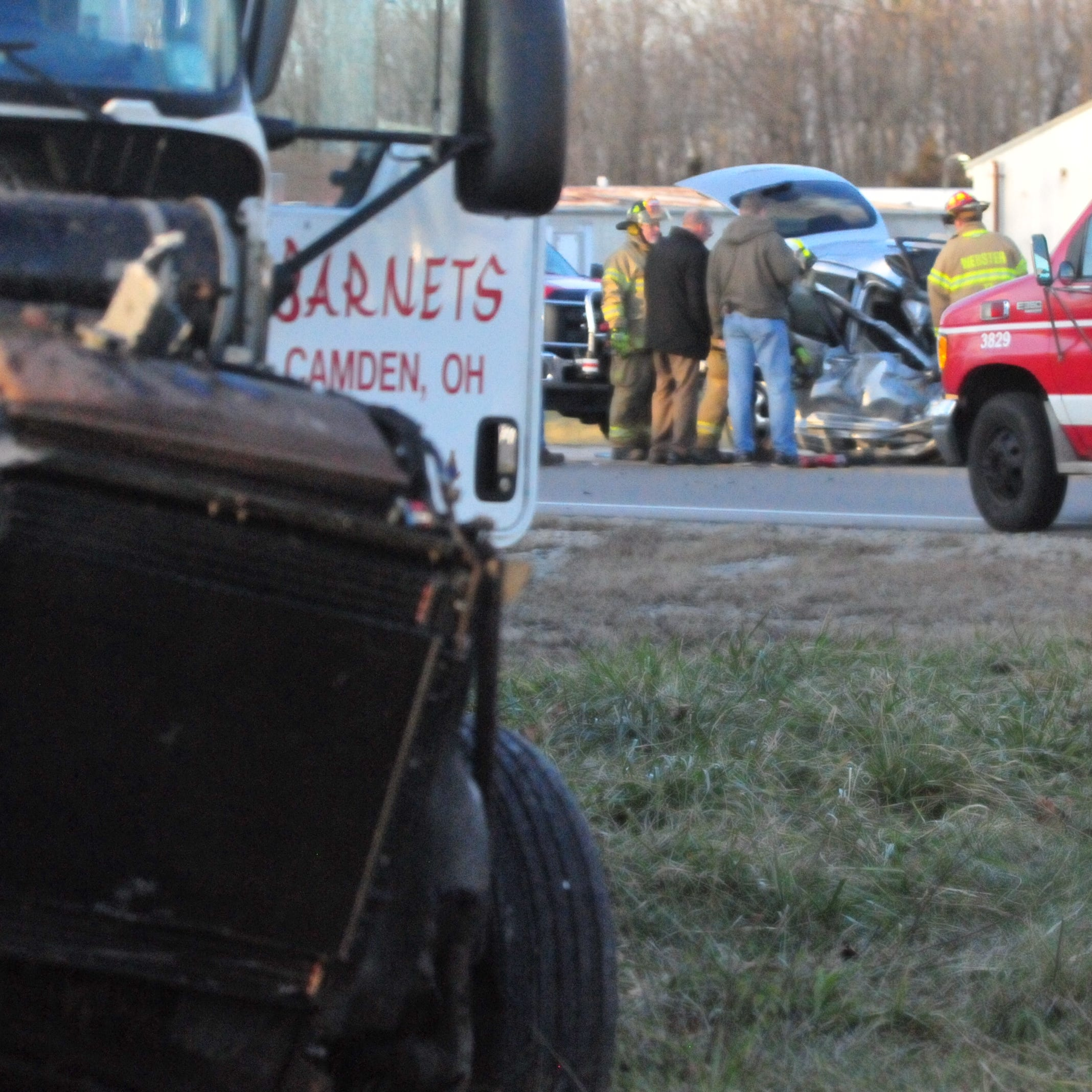 Driver extricated, taken to hospital after turning car struck by semi on U.S. 35