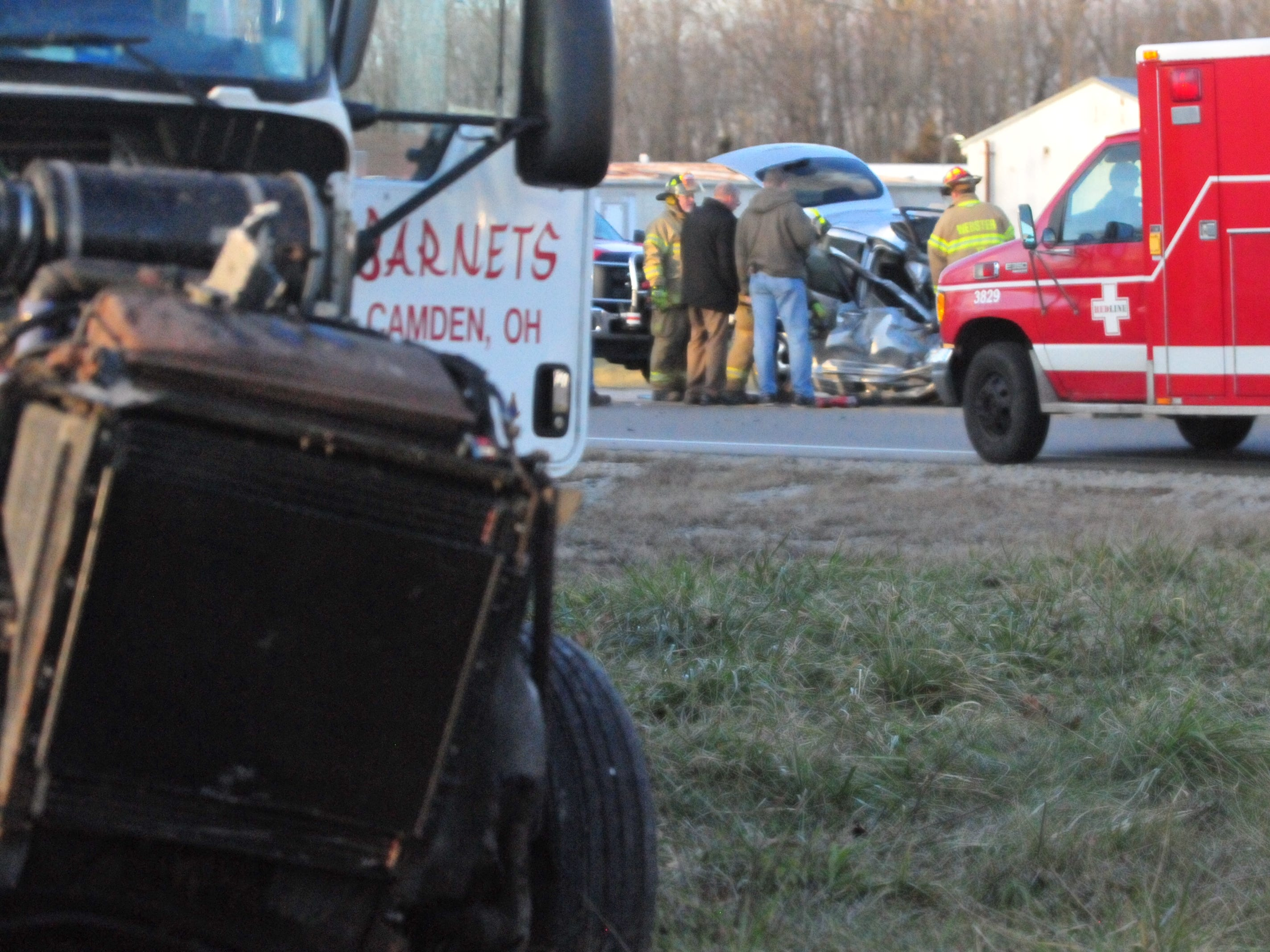 A semi tractor-trailer and a PT Cruiser were involved in an accident Monday afternoon on U.S. 35 north of Salisbury Road.