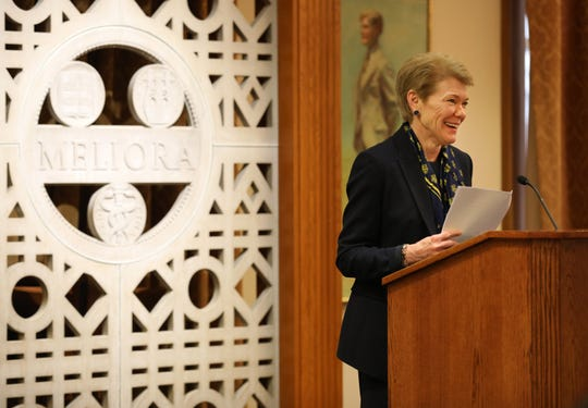 The University of Rochester on Dec. 17, 2018, announced Sarah Mangelsdorf  as its next president. Mangelsdorf is the 11th president in the school's history, and she is the first woman to lead the university.