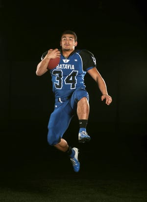Batavia running back Ray Leach is the All Greater Rochester football player of the year.