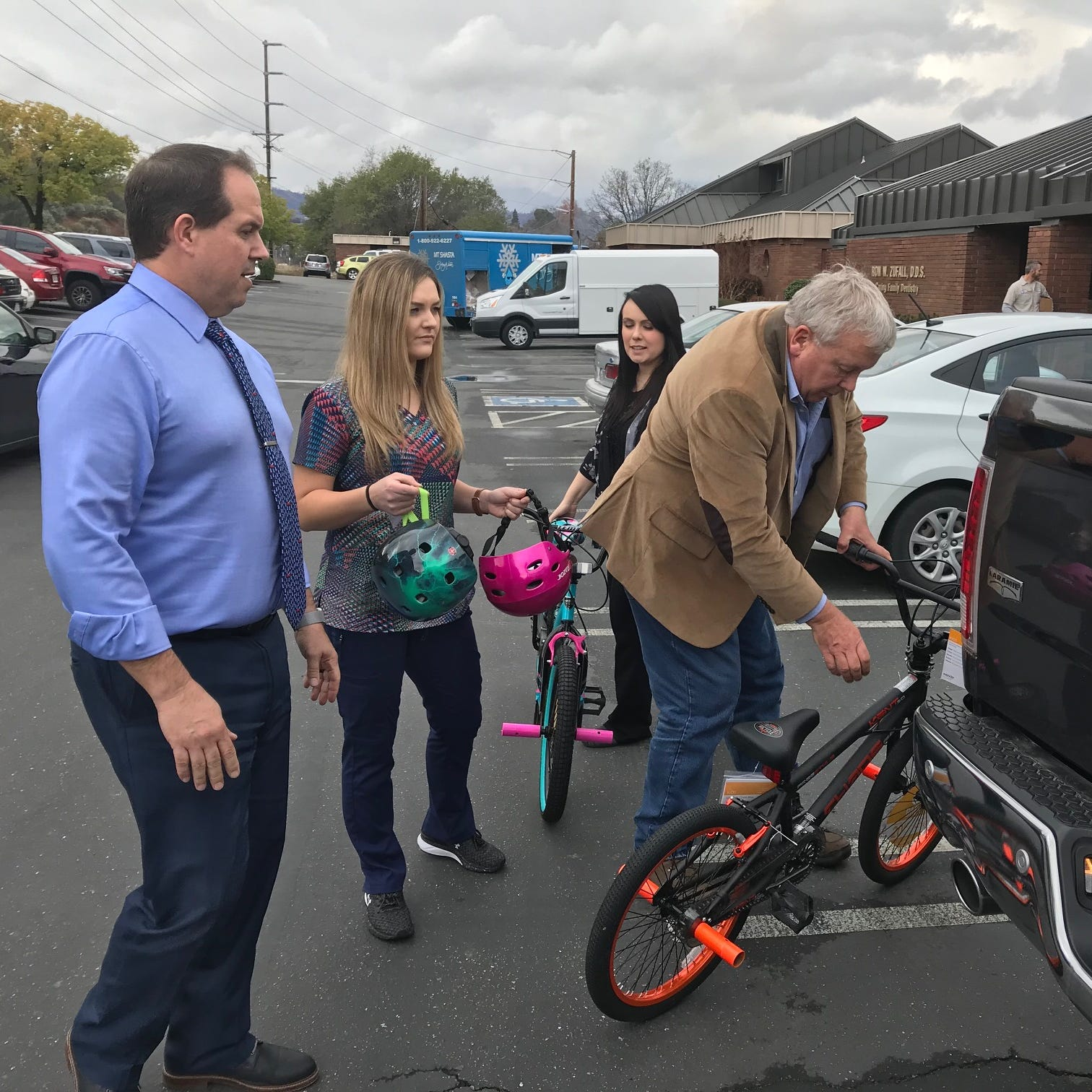 The Carr Fire took his home and a dear friend's life. But he's still giving bikes to kids