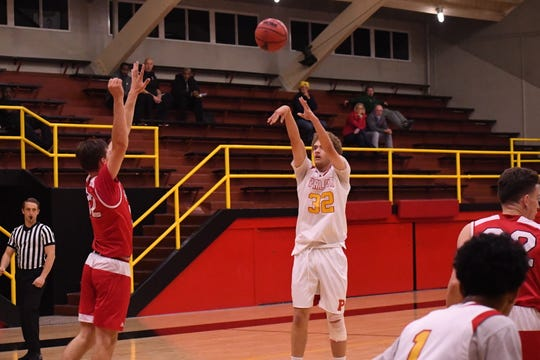 Palma forwad Colin Neff (32), shown here in a win against Hollister in December, led the team in scoring in a crucial matchup against Alisal to win Boys' Athlete of the Week.