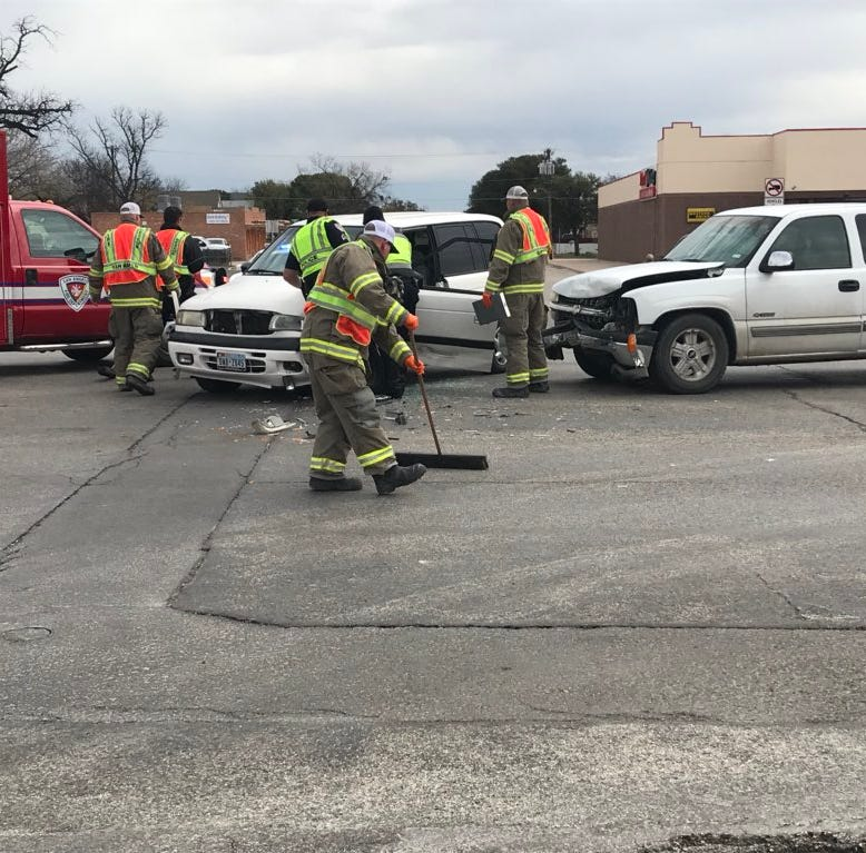 Two car wreck in San Angelo sends 89-year-old woman to hospital on a stretcher