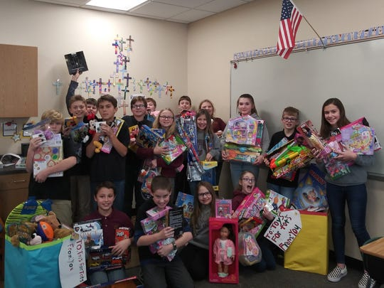 Students from Shepherd of the Hills Catholic School collected toys for kids in need.