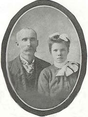 James Oliver Morris and Myrtle Mae Maples Morris, grandparents of Sarah Hudson Pierce.