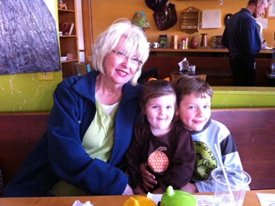 The late Martha Stewart Walker and grandchildren, Meredith Walker and Glenn H. Walker.