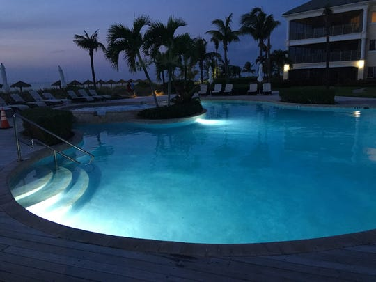 The pools and hot tub were highlights at La Vista Azul, in Turtle Cove, Turks and Caicos