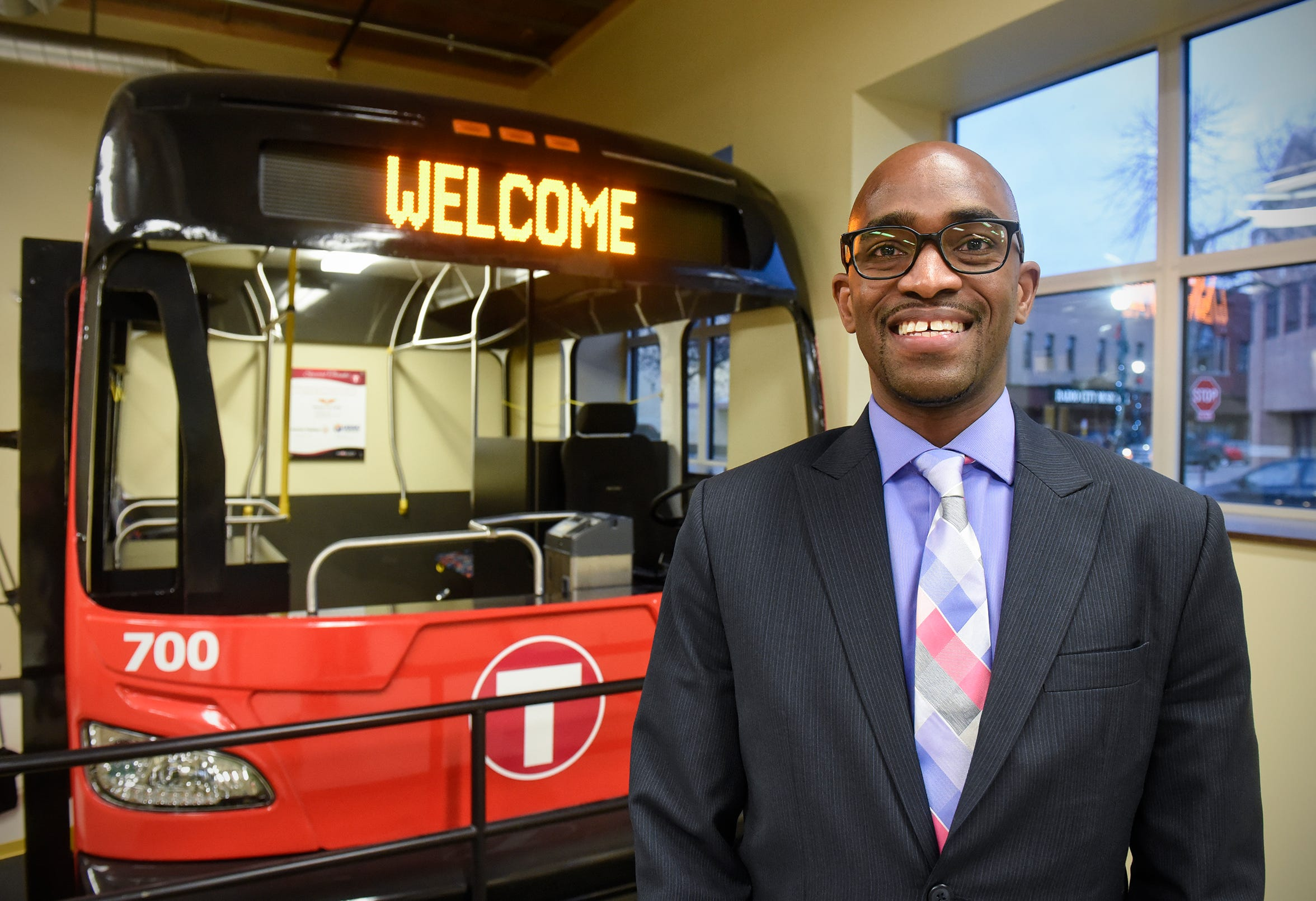 Metro Bus CEO Ryan Daniel poses for a photograph Friday, Dec. 7, at  the Metro Bus Mobility Training Center in St. Cloud.