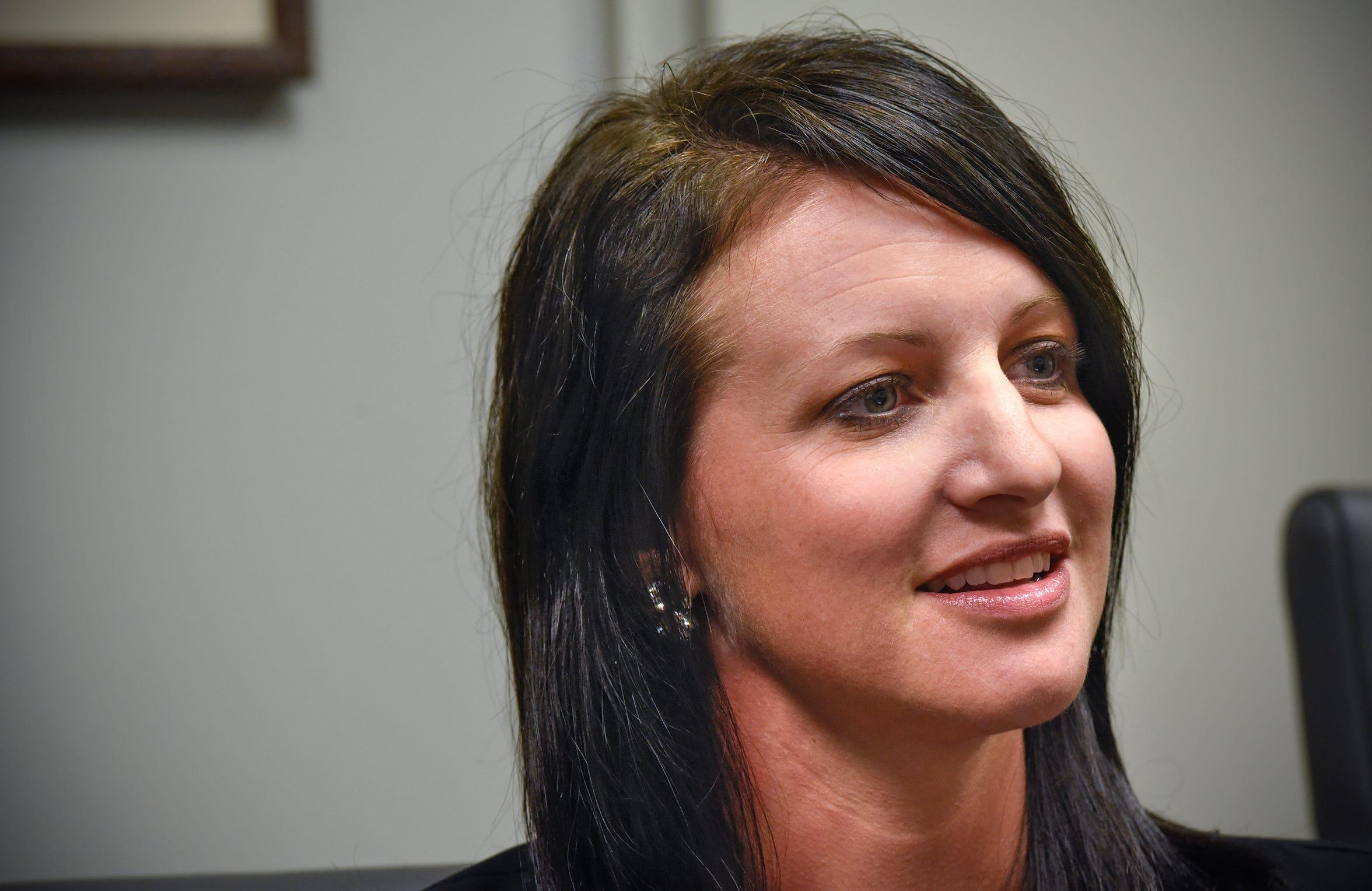Moss & Barnett Business Development Director Shannon Wiger talks about her work during an interview Wednesday, Dec. 12, in St. Cloud.