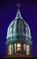 The dome of Sacred Heart Chapel is pictured Monday, Dec. 10, at St. Benedict's Monastery in St. Joseph.