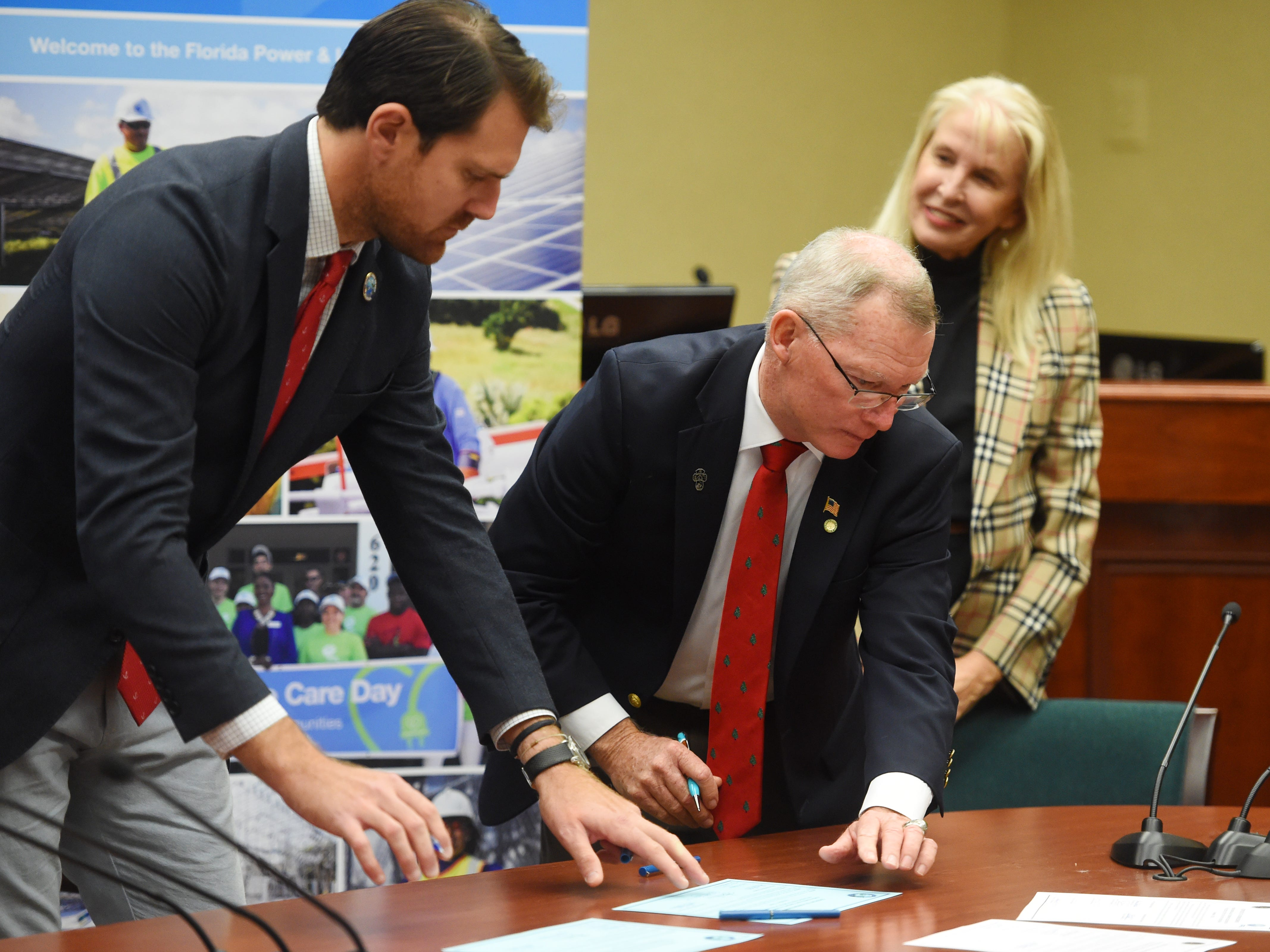 The Vero Beach City Council held a public ceremony for the signing of the final papers for the sale of the Vero Beach electric system to Florida Power & Light on Monday, Dec. 17, 2018 at City Hall in Vero Beach.