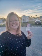 Lisa Woodruff, a fifth-grade science teacher from Jensen Beach, won the Diamond Lil' Tiny Home raffle sponsored by St. Lucie Battery & Tire to benefit St. Lucie Habitat for Humanity.