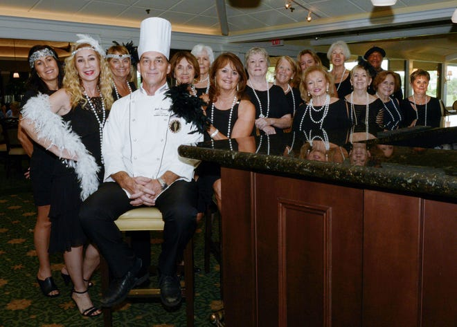 The committee and Chef John are getting ready for a roaring good time at All That Jazz! L-R: Deena Fondacaro, Chair Brenda Woolston, Carol Holth, Executive Chef John Saundry, Molly Hoffman, Rita Nelson, Pam Gardner, Pat Garrett, Andi Brennan, Toni MacDonald, Janet Schrot, Joyce Powell, MiMi Warren, Linda Schwaderer, Daryl Magill and Judie Wolfe