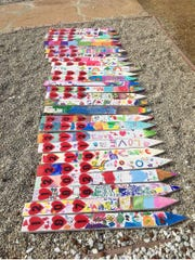 Students from Hathaway School in the Hueneme School District worked to create land markers for the homes destroyed in Seminole Springs during the Woolsey Fire.