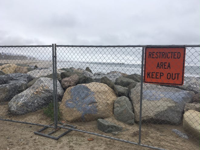 Part of Port Hueneme's coastline is closed until spring as the Army Corps of Engineers works to replenish the sand.