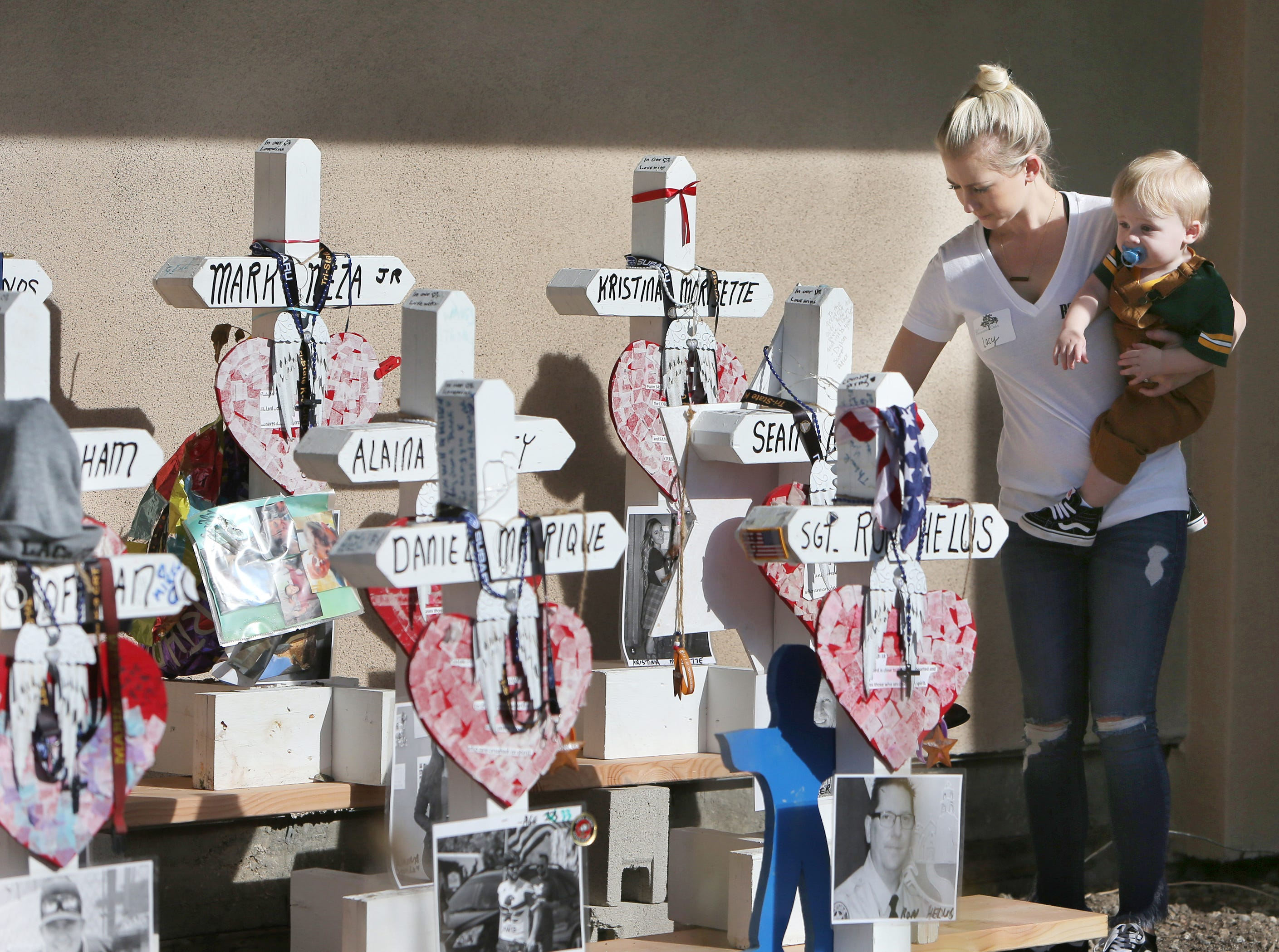 Memorial to Borderline victims moved from street corner to nearby site of mass shooting