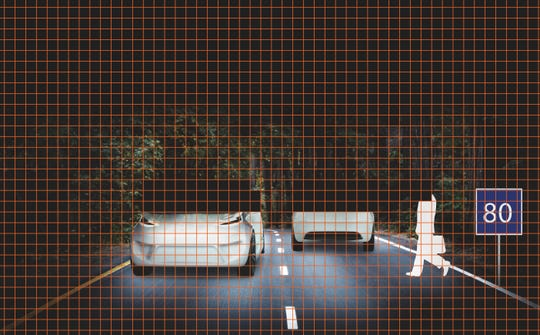 Osram Eviyos' adaptive lighting system shades onlookers.